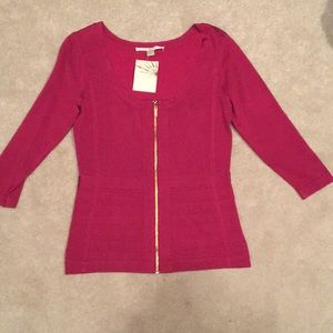 NWT Boston Proper Zip Up Jacket in Mauve Size S